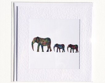 Family of Elephants Card