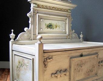 Victorian unique bench chest Bank - Petit Jardin -.