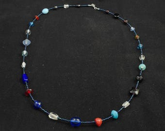Lampwork Glass Beaded Necklace