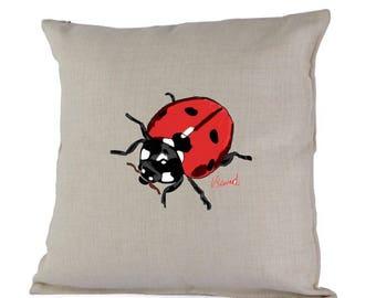 Ladybird Cushion Pillow including inner gift idea country home decor