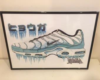 Nike TN 'Glacier' artwork A3 print by Rawgrind