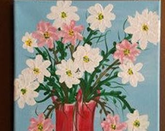 Flowers in Vases Canvas