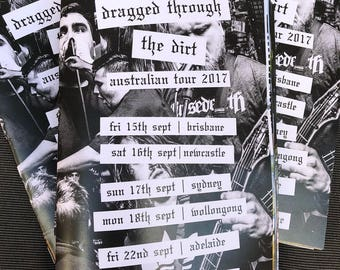 Dragged Through The Dirt Aus Tour Photo Zine