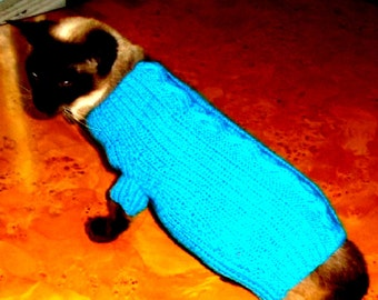 CAT SWEATER with CABLE.