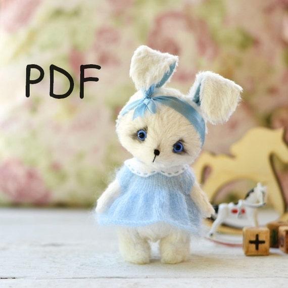 Pattern rabbit and cat Teddy 12 cm (4,72 inch),pattern cat, pattern ...