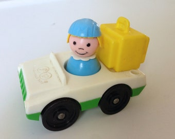 Fisher Price Little People Flight Attendant and Car