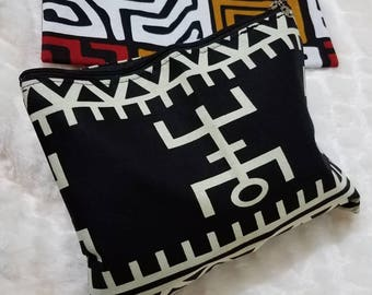 Ankara Makeup Bag/ Ethnic Cosmetics Bag/ African Cosmetics Bag/ Dashiki Accessories/ Dashiki Makeup Bag