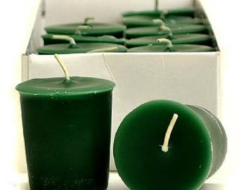 Balsam Fir Scented  Votive Candles 15 Hour Soy Candles Pick A Pack Dye Free