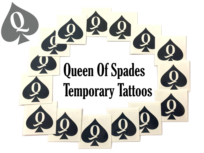 Swinger temporary tattoos Queen Of Spades Temporary Tattoo Fetish BBC Hotwife cuckold slut Swinger Sissy 1, eBay