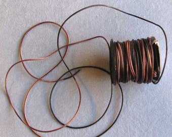 2 Yards 1.5 mm Gypsy Sippa Dyed Leather Cord, Round Leather Cord