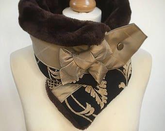 Perfect gift, neckwarmer, womens cowl, Ultimate neck warmer, faux fur snood, Amanda Sutherland,