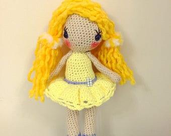Crochet doll,Amigurumi doll, Sunny girl,toys,amigurumi