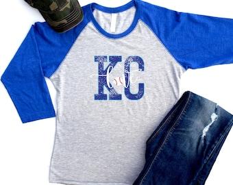 Kansas City Royals Shirt, KC Royals Shirts, Royals Tshirts, Royals Shirts Women, KC Royals Raglan, Royals Shirt, Womens Royals Clothing, KC