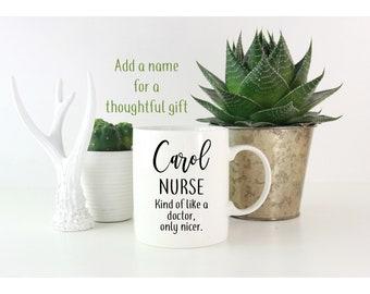 Personalised Nurse Mug funny nurse gift coffee mug with name gift ideas for nurses nurse mug nursing student gifts  nurse graduation gift