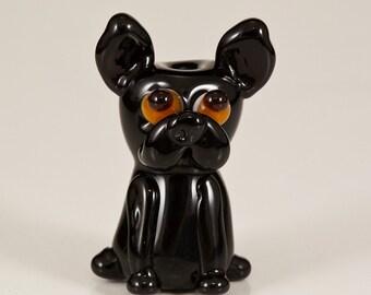 Verkauf - schwarz Frenchie Hund Glasperle