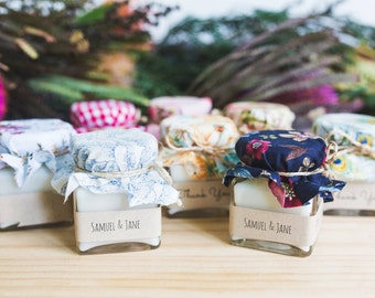 Rustic Candle Wedding Favours