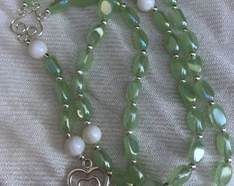 Glass and shell rosary