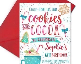 Hot Cocoa Party Invitations Hot Cocoa Party Invitation Hot