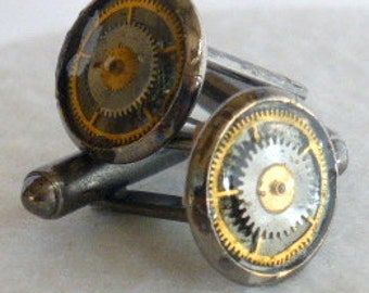 Reclaimed Watch Gear Cuff Links  CL1