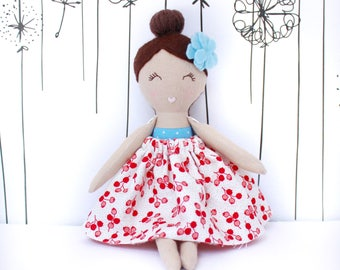 Small Pocket Doll, Handmade Cloth Dolls, Rag Doll, Cloth Doll, Fabric Doll, Rag Dolls, Handmade Heirloom Dolls, Handmade Dolls, Lucy (mini)