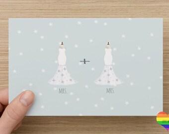 Mrs. + Mrs. | LGBTQ | Marriage | Engagement | Love | Congratulations