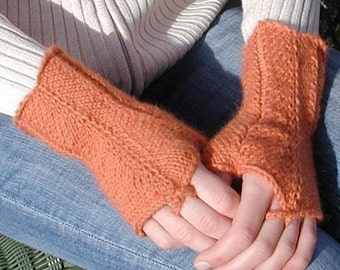 Victoria,  a knitting pdf pattern for fingerless gloves.