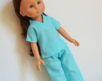 "Handmade Doll Clothes Hospital Scrubs Nurse Doctor fits 13"" Corolle Les Cheries Dolls B"
