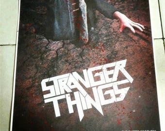 Blood Splattered stranger things season 2 poster (evil dead). 11x17