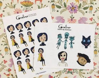 Coraline Sticker Set