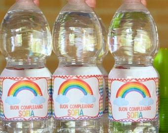 Rainbow Party Custom Bottle Label