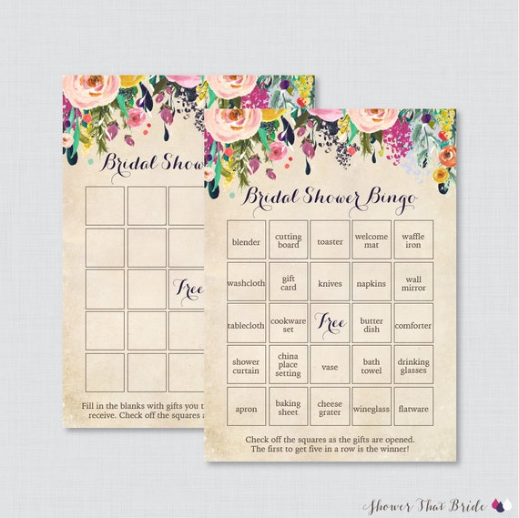 Funky Free Bridal Bingo Template Component - Resume Ideas - namanasa.com