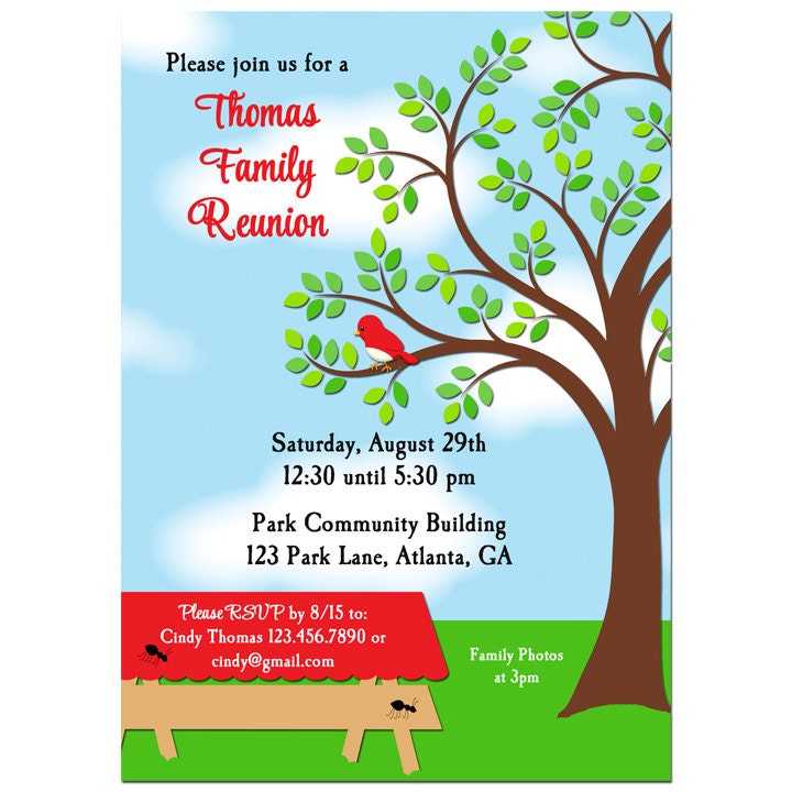 Family reunion picnic bbq park invitation printable or zoom thecheapjerseys Image collections