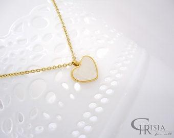 Heart Necklace, Necklace, Gold Heart Necklace, Heart Pendant, Tiny Heart Necklace, Love Necklace, Valentines Day Gift, Valentines Gift