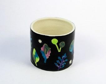 Spring Greens Ceramic Planter