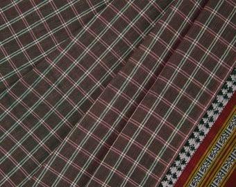 Grey Checkered Saree