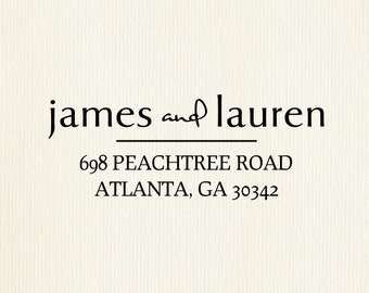 Unique Personalized High Quality Rubber Address Stamp, Wedding Stamp, or Custom Gift for Housewarming or Birthday