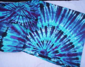 Blue Dream - Sheet Set OR Duvet Cover Set - with matching  pillow cases - Organic Cotton - Tie Dye