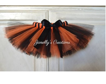 Halloween tutu - black and orange tutu - baby tutu - preemie tutu - adult tutu - kids tutu - birthday tutu