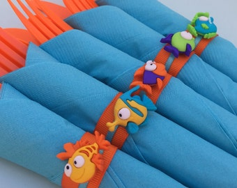 Under the Sea Flatware with Ocean Theme Napkin Ring: Private Listing