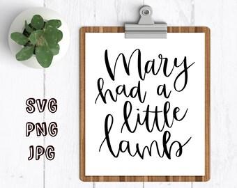 nursery rhyme svg design mary had a little lamb svg cut file for cricut cut files for silhouette nursery rhyme cut file svg for baby svg