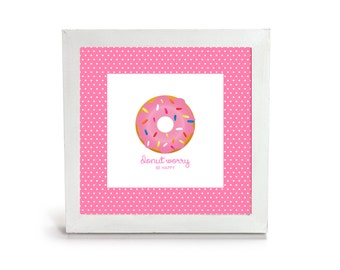 Donut Worry Be Happy - Office Print and Frame