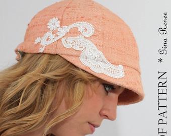 Newsboy hat pattern. Cloche hat pattern. Sewing pattern.
