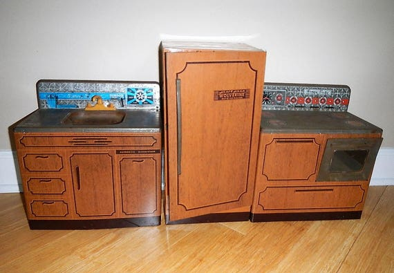 vintage wolverine sunny suzy play kitchen 3 pcs incl sink
