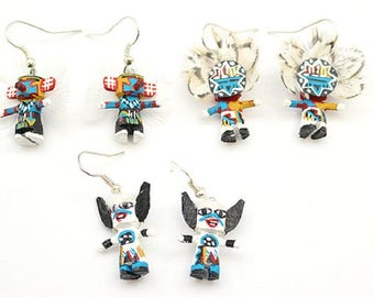 Navajo Kachina Dangle Earrings