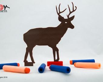 Deer Target for use with Foam Dart Guns, Airsoft Target, rubber band gun, foam dart target