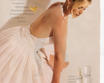 Pantene Hair care products Vintage Print Ad 1994