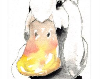 Duck Wildlife Portrait by Lesley Silver, Wife of award winning artist John SIlver. Personally signed A4 Print. LDU004SP