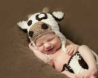 Newborn Cow Outfit, Baby Cow Outfit, Cow Photo Prop, Cow Outfit for Baby, Baby Boy Cow Outfit, White Cow Outfit, Newborn Cow Costume Photo