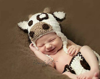 baby cow outfit baby cow costume newborn cow outfit newborn cow costume cow hat cow photo prop baby shower gift