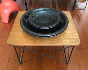 Set of 5 Vintage Edith Heath Rim Line Black Plates